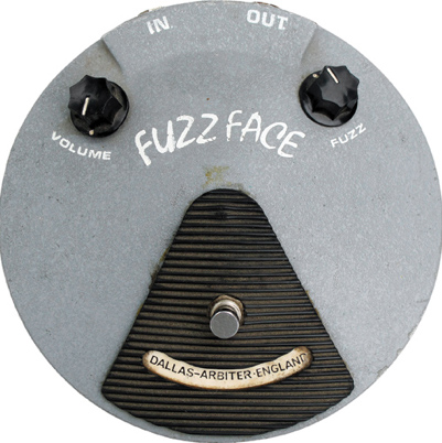 The recognizable smiling face of the Dallas Arbiter Fuzz Face