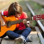 Generation Z guitar player