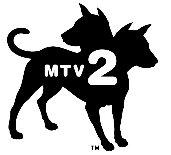 edgy logo for MTV2 music brand
