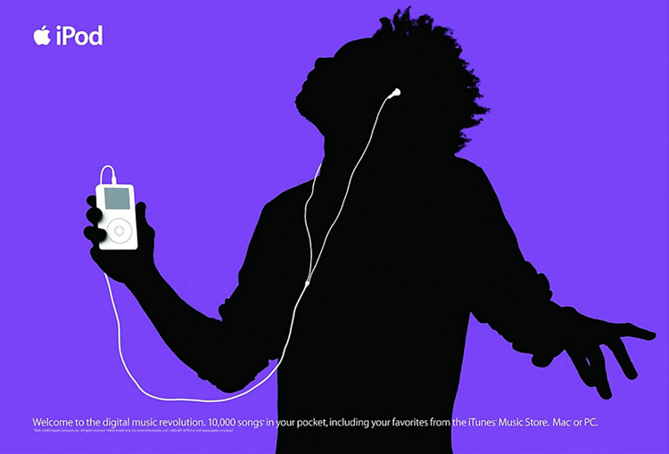 Iconic ad for Apple's music brand focuses on the benefit to users