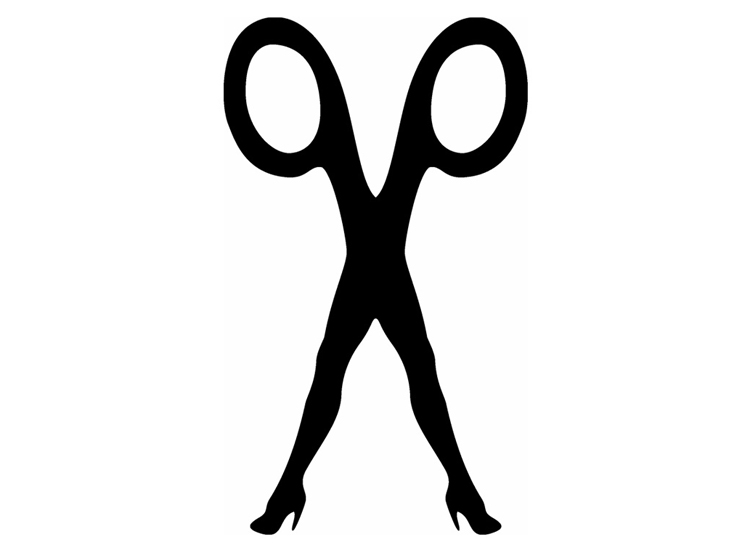 outrageous Scissor Sisters logo reflects their brand culture
