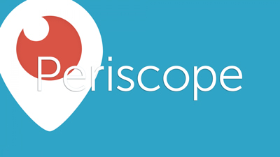 music brand streaming service Periscope's banner
