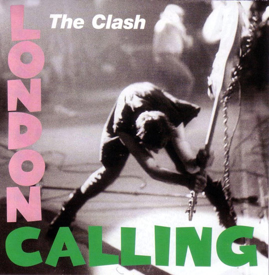 Stellar photography on album cover for London Calling by The Clash