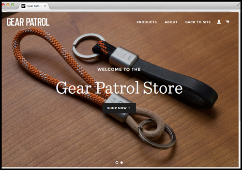 screenshot of Gear Patrol simple navigation