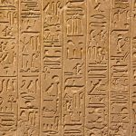 Some very old content in the form of Egyptian hieroglyphics