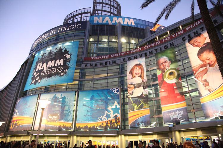 NAMM Show - exterior of Anaheim Convention Center