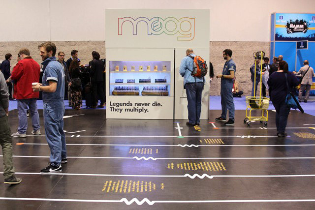 Moog booth floor graphics at NAMM 2017